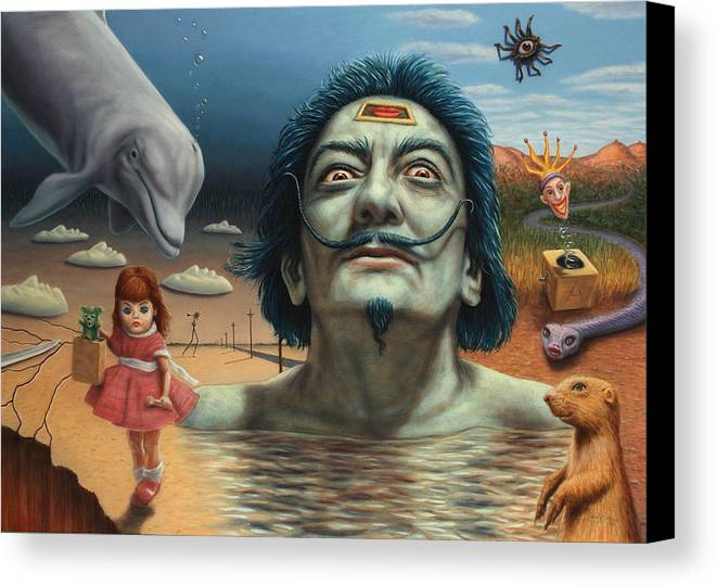Dali Canvas Print featuring the painting Dolly In Dali-land by James W Johnson