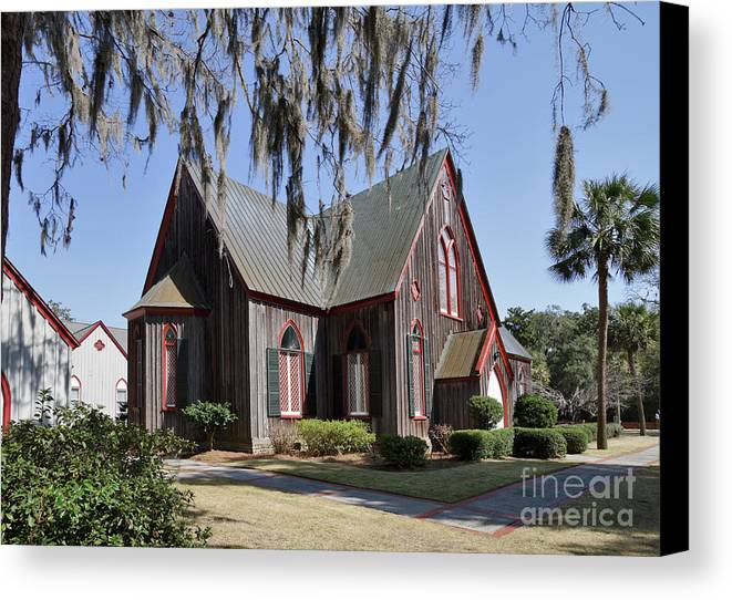 Travel Canvas Print featuring the photograph The Old Wooden Church by Louise Heusinkveld