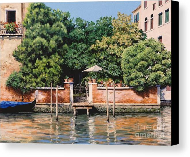 Venice Oasis Canvas Print featuring the painting Grand Canal Oasis by Michael Swanson