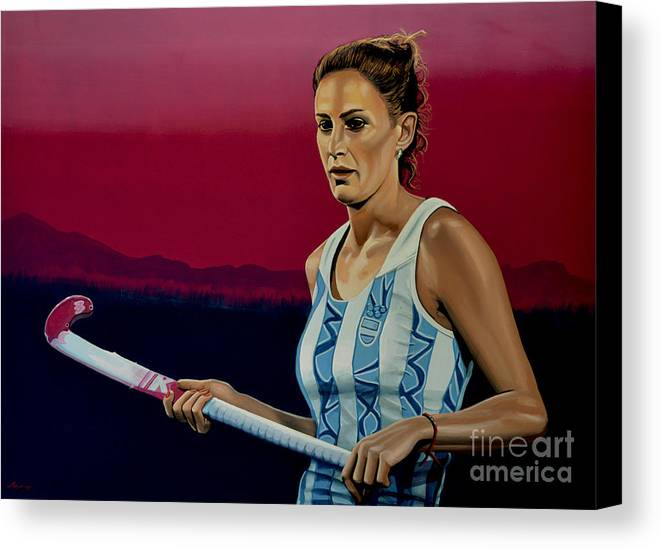 Luciana Aymar Canvas Print featuring the painting Luciana Aymar by Paul Meijering