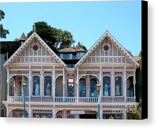 Women's Clothing Store Canvas Print featuring the photograph Sausalito Boutique by Connie Fox
