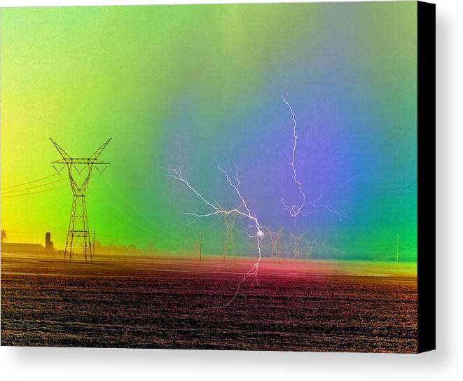 Abstract Canvas Print featuring the photograph The Balance Of Powers by Tom Druin