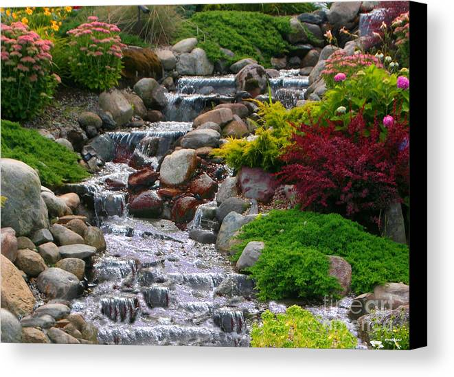 Waterfall Canvas Print featuring the photograph Waterfall by Tom Prendergast