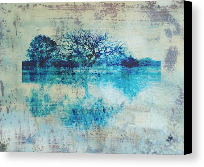 Blue Canvas Print featuring the photograph Blue On Blue by Ann Powell
