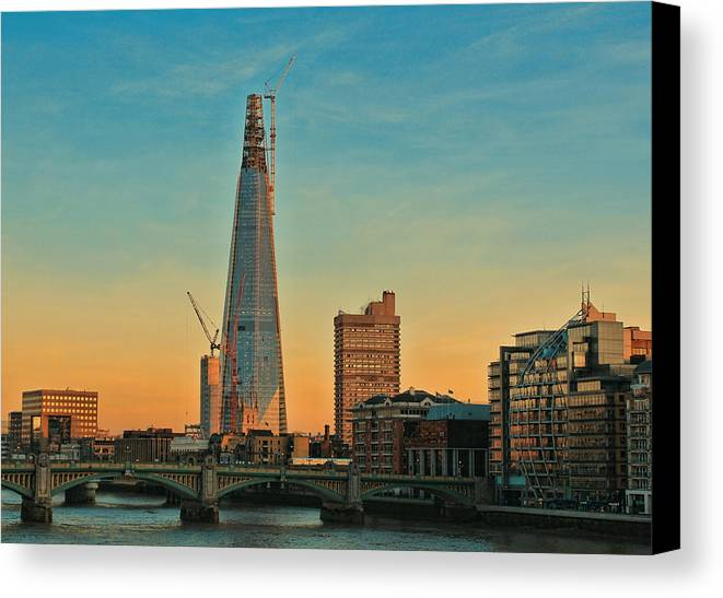 Shard London Bridge Canvas Print featuring the photograph Building Shard by Jasna Buncic