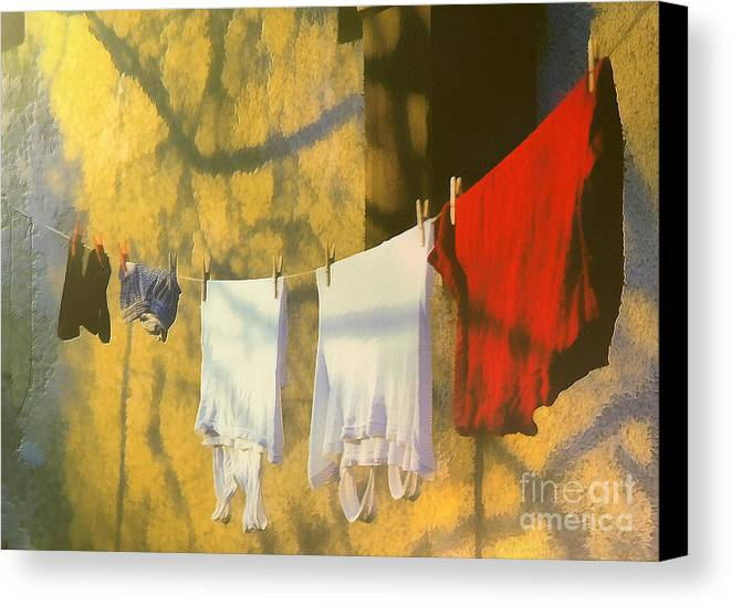 Odon Canvas Print featuring the painting Clothing by Odon Czintos