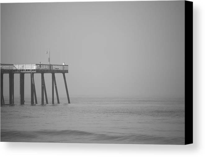 San Clemente Canvas Print featuring the photograph San Clemente Pier by Ralf Kaiser