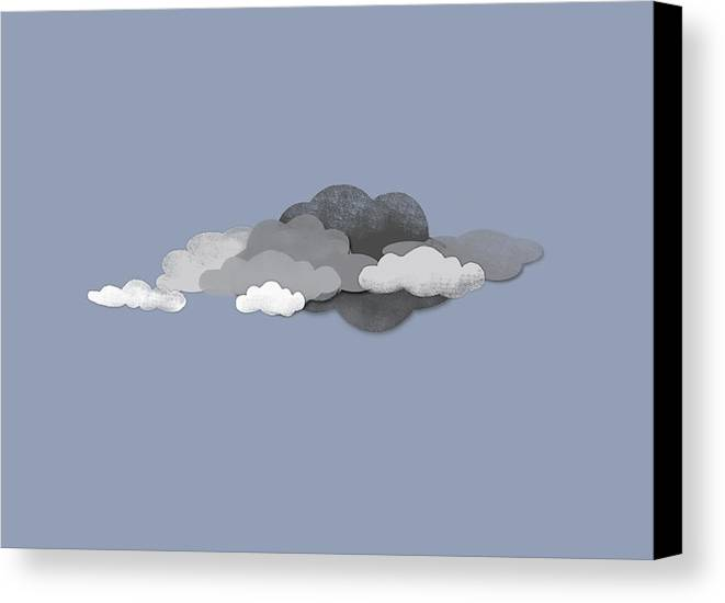 Horizontal Canvas Print featuring the digital art Storm Clouds by Jutta Kuss