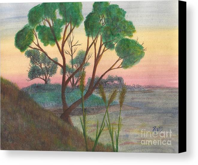 Watercolor Canvas Print featuring the painting Taking A Moment... by Robert Meszaros
