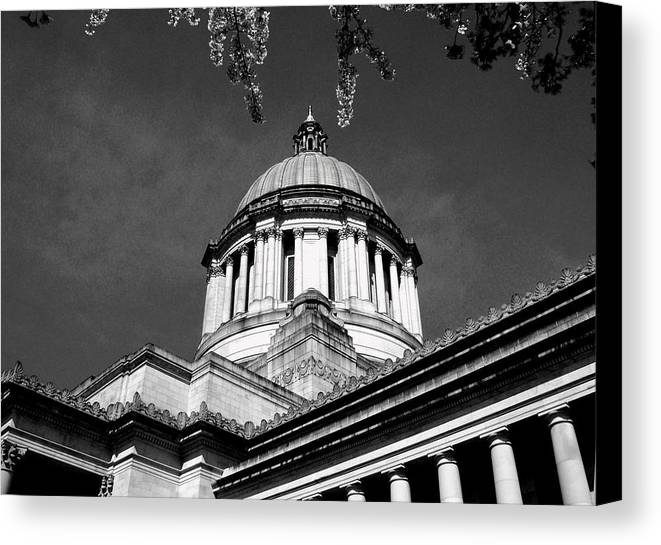 Capital Canvas Print featuring the photograph Black And White by Kevin D Davis