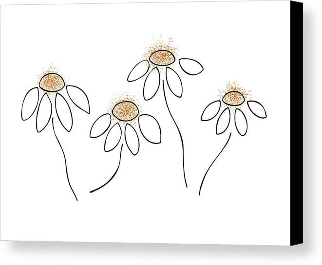 Frank Tschakert Canvas Print featuring the painting Chamomile by Frank Tschakert