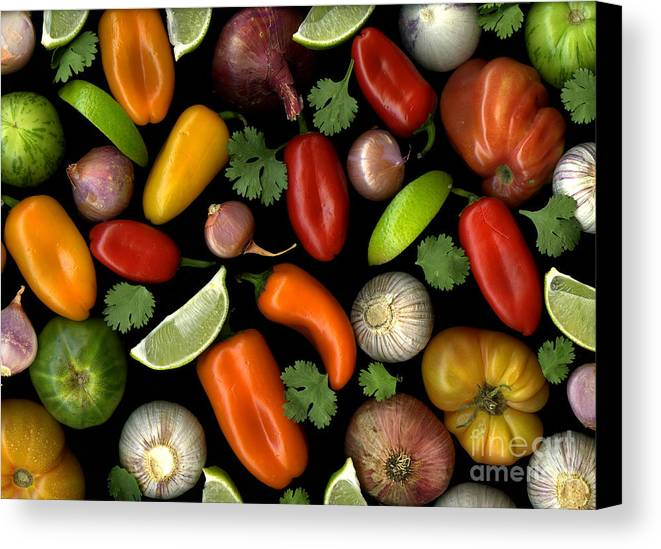 Culinary Canvas Print featuring the photograph Salsa by Christian Slanec