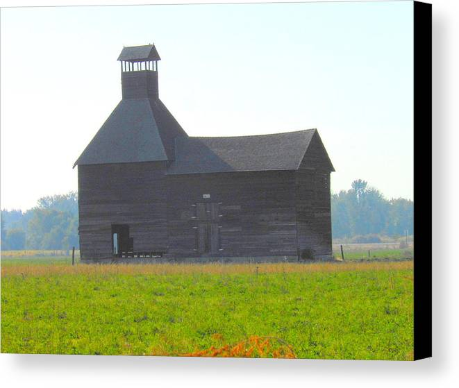 Architecture Canvas Print featuring the photograph Abandoned by Kay Gilley