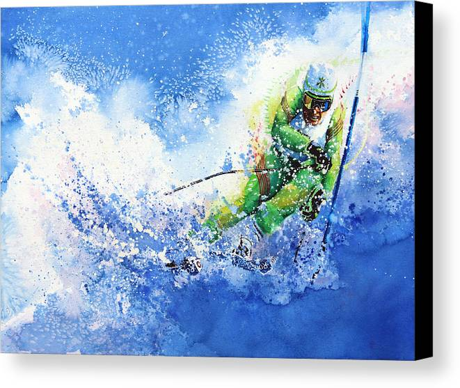 Olympic Sports Canvas Print featuring the painting Competitive Edge by Hanne Lore Koehler