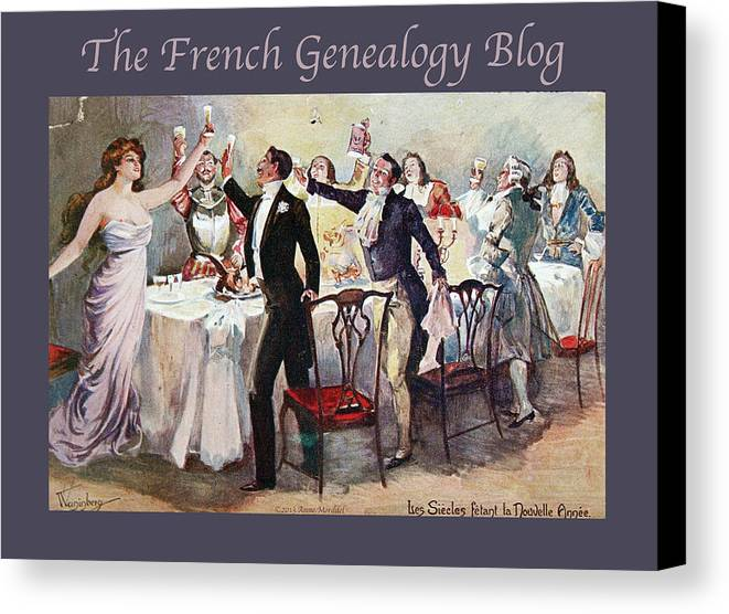 France Canvas Print featuring the photograph French New Year With Fgb Border by A Morddel
