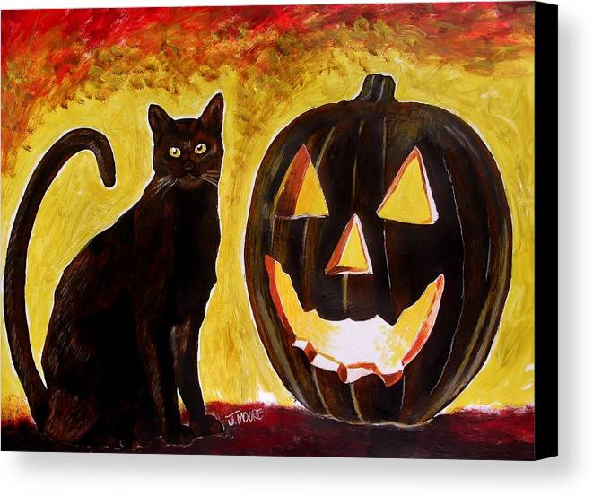 Halloween Canvas Print featuring the painting October by Jeremy Moore
