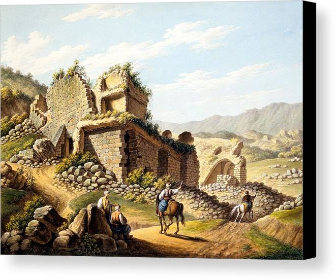 Ruin Canvas Print featuring the drawing Ruins Of The Stadium, 1790s by Gaetano Mercati