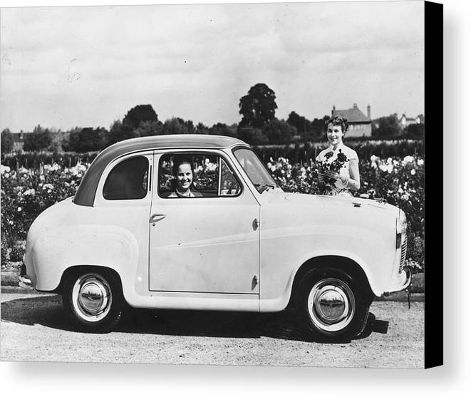 Adult Canvas Print featuring the photograph Austin Seven by Topical Press Agency