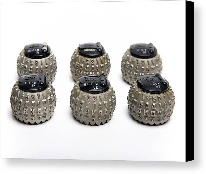 Ibm Electronic Composer Canvas Print featuring the photograph Ibm Selectric Typeballs, 1970s by Victor De Schwanberg