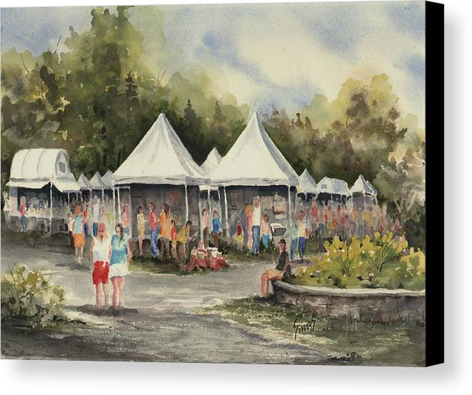 Festival Canvas Print featuring the painting The Festival by Sam Sidders