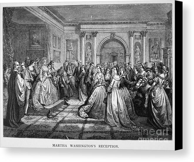 18th Century Canvas Print featuring the photograph Washington Reception by Granger