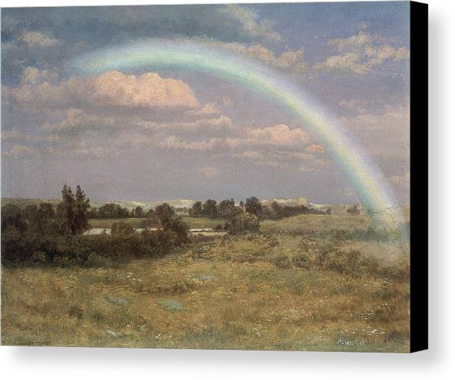 After The Storm Canvas Print featuring the painting After The Storm by Albert Bierstadt