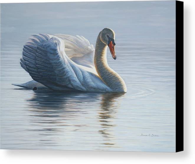 Wildlife Canvas Print featuring the painting In To The Light by Bruce Dumas
