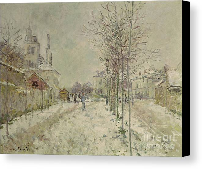 Snow Effect Canvas Print featuring the painting Snow Effect by Claude Monet
