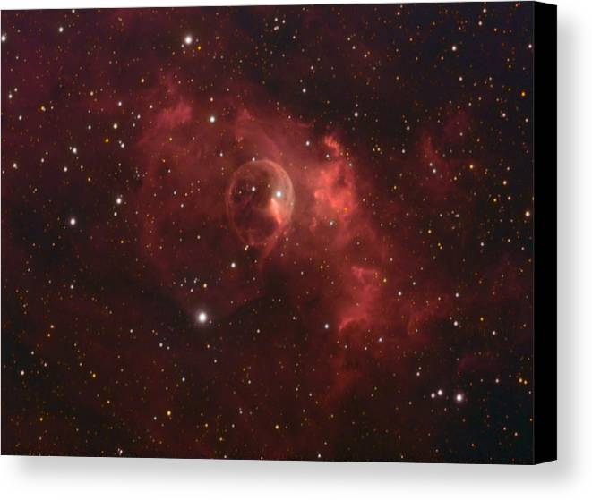 Space Art Canvas Print featuring the photograph The Bubble Nebula by Charles Warren