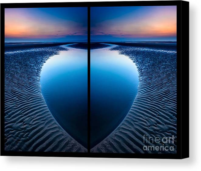 British Canvas Print featuring the photograph Blue Hour Diptych by Adrian Evans