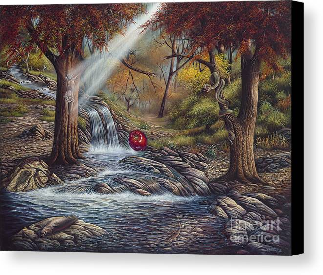 Spiritual Canvas Print featuring the painting Duality by Ricardo Chavez-Mendez