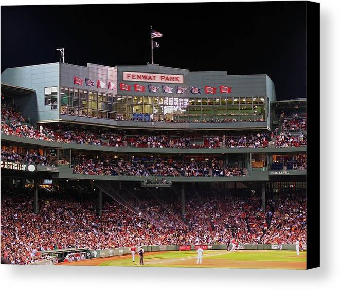 Boston Canvas Print featuring the photograph Fenway Park by Juergen Roth