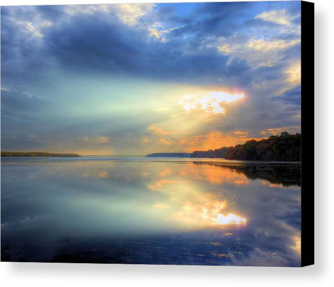 Sun Rays Canvas Print featuring the photograph Let There Be Light by JC Findley