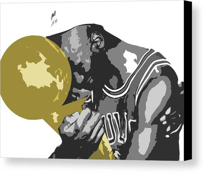 Chicago Canvas Print featuring the digital art Michael Jordan by Mike Maher