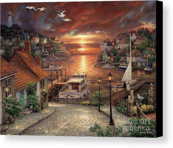 Million Dollar Art Canvas Print featuring the painting New Horizons by Chuck Pinson