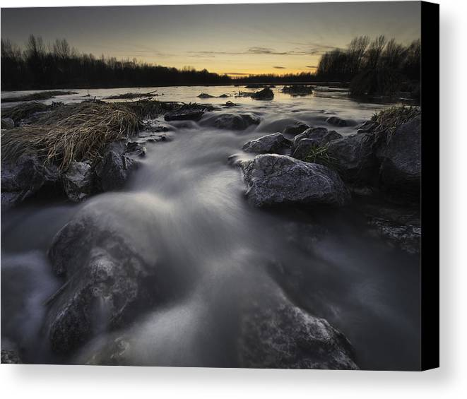 Landscapes Canvas Print featuring the photograph Silky River by Davorin Mance
