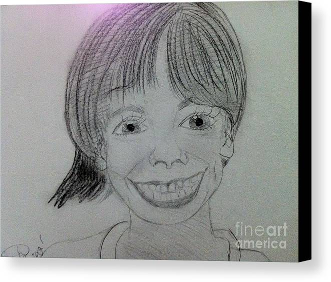 The Late Missing Child Canvas Print featuring the drawing Etan Patz by Charita Padilla
