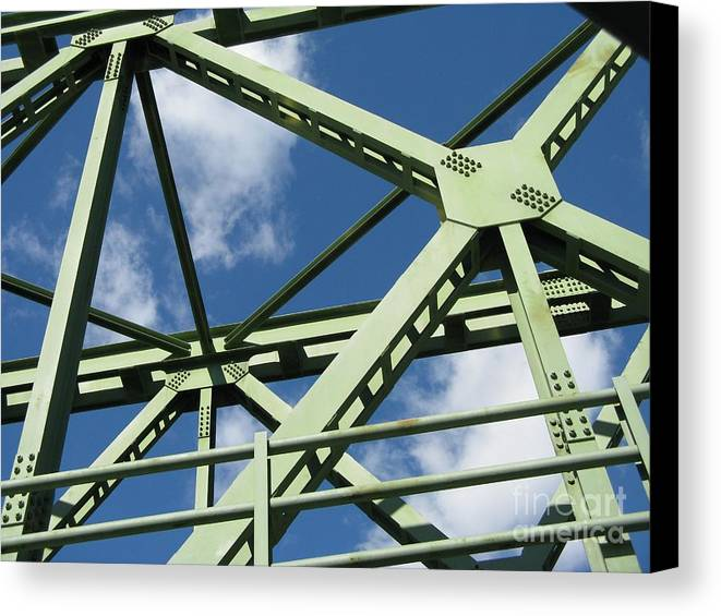 Architecture Canvas Print featuring the photograph Truss by Arlene Carmel