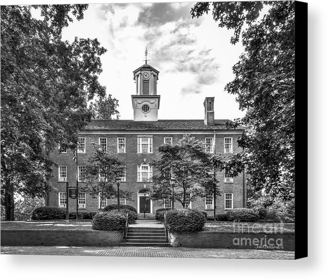 Athens Canvas Print featuring the photograph Ohio University Cutler Hall by University Icons