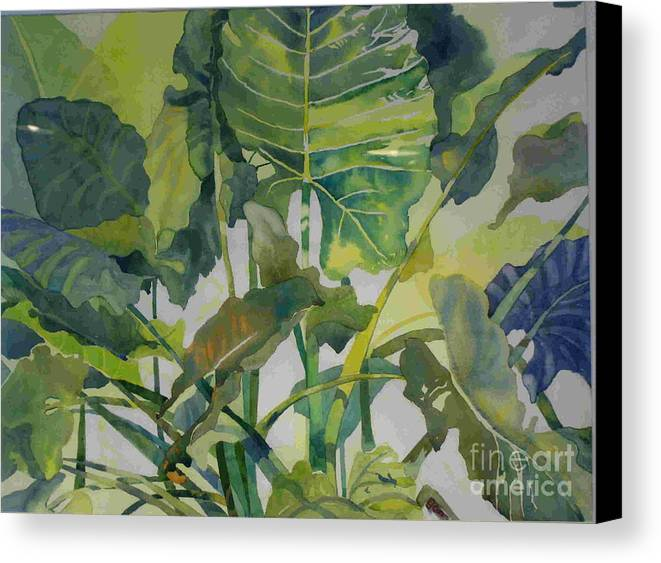Green Canvas Print featuring the painting Mess Of Greens by Elizabeth Carr