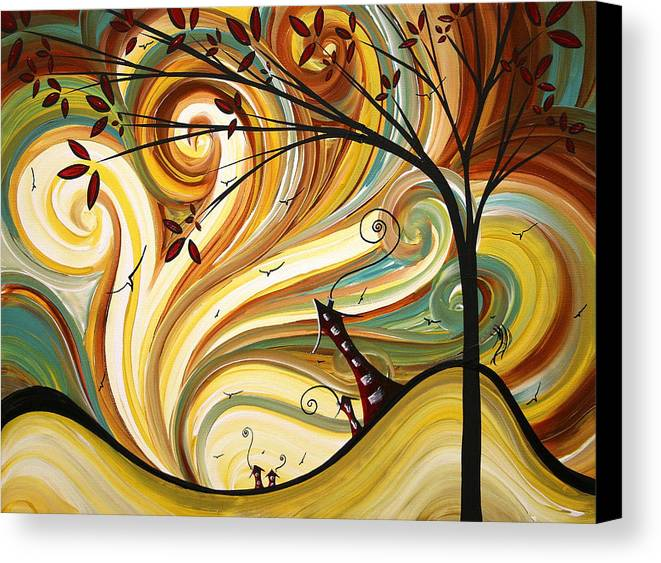 Art Canvas Print featuring the painting Out West Original Madart Painting by Megan Duncanson