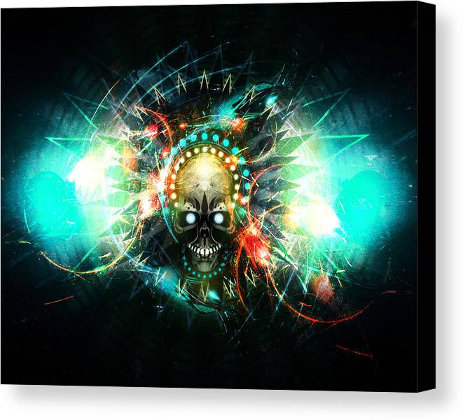 Skull Canvas Print featuring the digital art Deadstep -vip by George Smith