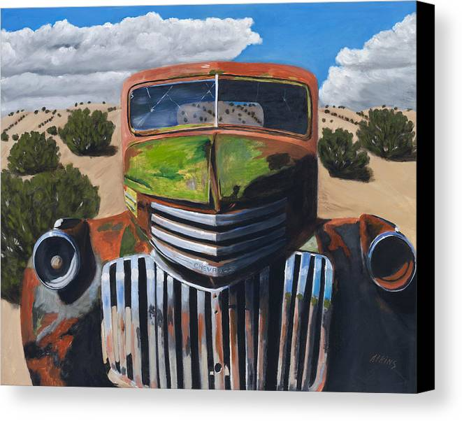 Truck Canvas Print featuring the painting Desert Varnish by Jack Atkins