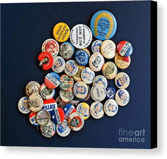Buttons Canvas Print featuring the photograph Buttons by Gwyn Newcombe