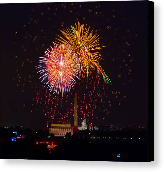 4th Of July Canvas Print featuring the photograph Fourth Of July by David Hahn