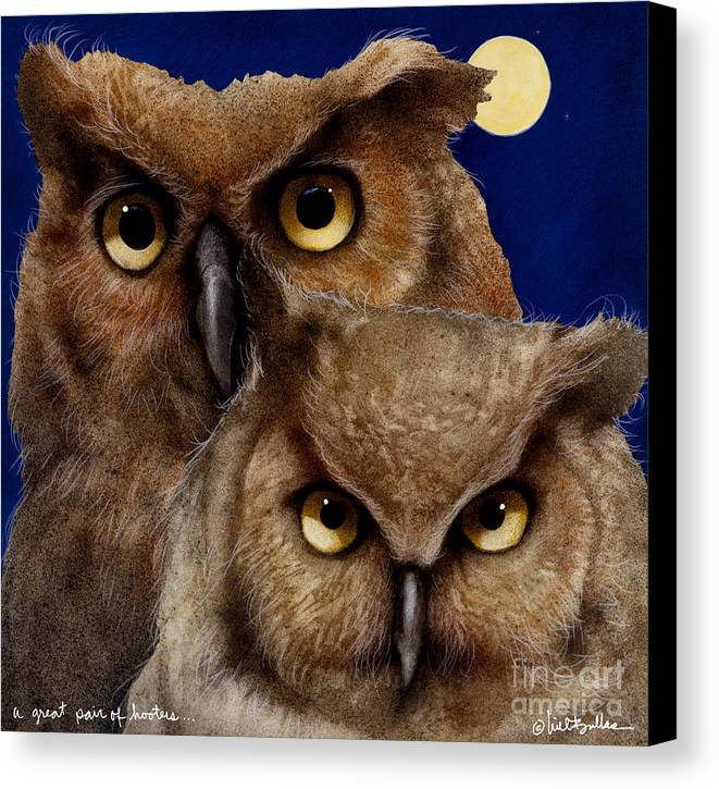 Will Bullas Canvas Print featuring the painting A Great Pair Of Hooters... by Will Bullas