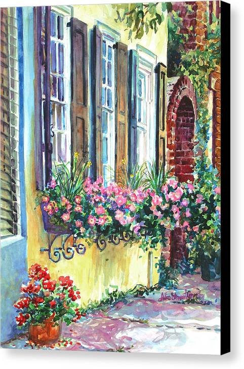 Charleston Canvas Print featuring the painting Church Street Textures by Alice Grimsley