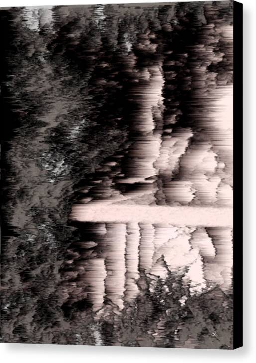 Abstract Canvas Print featuring the digital art Illusion by Gerlinde Keating - Keating Associates Inc