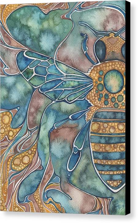 Honey Canvas Print featuring the painting Honey Bee by Tamara Phillips