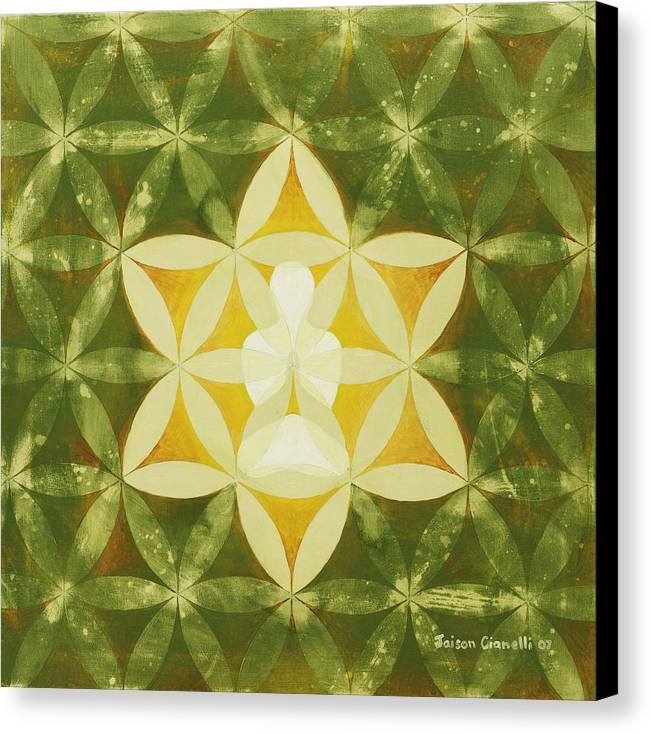 Spiritual Art Canvas Print featuring the painting Balance by Jaison Cianelli